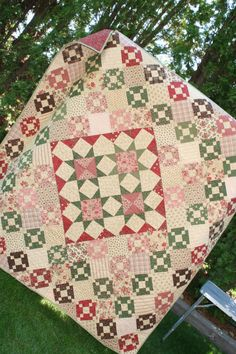 Aunt Rosie's 9-Patch and Stars quilt