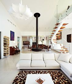 Contemporary Home Design, Gorgeous Living Room Design With White Tone Colors: Eco Friendly House Design Comes with the Modern Idea