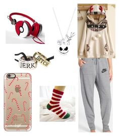 Christmas at Home by thyra-dahl on Polyvore featuring Mode, Fairyland, NIKE, Disney and Casetify
