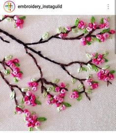 Wonderful Ribbon Embroidery Flowers by Hand Ideas. Enchanting Ribbon Embroidery Flowers by Hand Ideas. Embroidery Flowers Pattern, Simple Embroidery, Japanese Embroidery, Learn Embroidery, Silk Ribbon Embroidery, Hand Embroidery Designs, Embroidery Art, Flower Patterns, Eyebrow Embroidery