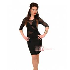 Midi μαύρο φόρεμα με διαφάνεια http://pgfashion.gr/index.php?route=product/product&path=61&product_id=321