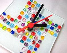 Relógio de vidro - arte moderna