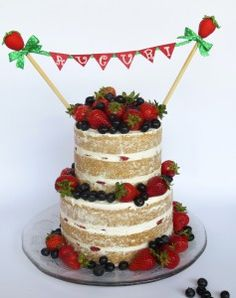 Torte di compleanno per adulti - Muffinworld naked cake