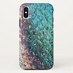 #Classy Fashionable Blue Gel iPhone X case - #elegant #gifts #stylish #giftideas #custom
