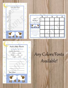 Sheep Lamb Any colors available to match your by CreatinVitations, $9.99