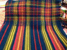 Knitting Stitches, Knitting Designs, Hand Knitting, Knitting Patterns, Crochet Patterns, Plaid Crochet, Knit Crochet, Tricot D'art, Weaving Textiles