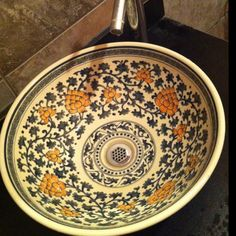Hand Painted Porcelain Sink