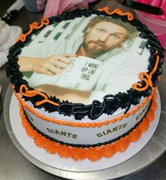My birthday cake of my favorite player Hunter Pence from the SF Giants <3