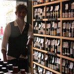 A punter at Cambridge Wine Merchants