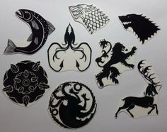 TEMPORARY TATTOO Game of Thrones House Crest by somerley on Etsy, $2.50