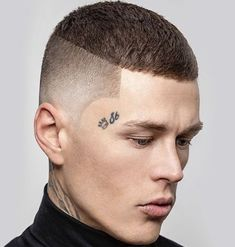 High and Tight Edgar Cut - Best Edgar Haircut Styles For Men: Cool Edgar Cut For Latino Guys #menshairstyles #menshair #menshaircuts #menshaircutideas #menshairstyletrends #mensfashion #mensstyle #fade #undercut #barbershop #barber Edgy Short Haircuts, Cool Mens Haircuts, Short Hair Cuts, Short Hair Styles, Buzz Cut Hairstyles, Black Men Hairstyles, Cool Hairstyles, Man's Hairstyle, Buzz Cut Styles