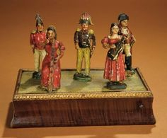 Bread and Roses - Auction - July 26, 2016: 231 Early 19th Century Carved Wooden Mechanical Scene