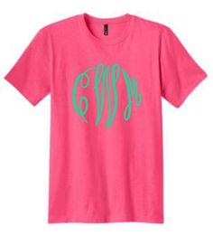 monogrammed shirt, monogrammed tee, monogrammed t shirt, personalized tee shirt, t shirt