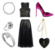 """Night out"" by manon-bdm on Polyvore featuring mode, Valentino, Balmain, Yves Saint Laurent, John Hardy, Effy Jewelry, Cartier et NightOut"