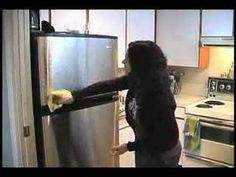 Coulter Cleanup: Refrigerator Rejuvenation with olive oil and white vinegar.  This is an everyday simple solution to have your appliances shining all the time.