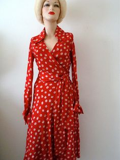 Vintage 1970s Diane Von Furstenberg Wrap Dress Coffee With Travis