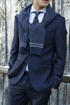 Pull your look together with a smart suit and nonchalant Tommy Hilfiger knit
