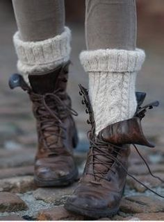 Boots~ These may look old and beat up- but damn they look comfy- especially with those socks