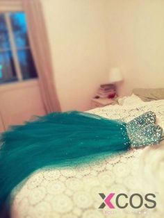 Simple Dress Sequined Sweetheart Long Tulle Prom Dresses/Evening Dresses TUPD-7160
