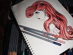 cool drawing/ little mermaid