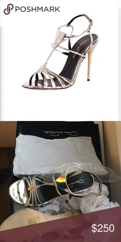 Oscar de la Renta Noelia heels NWT Brand new without box. I bought the wrong size. It's 37.5. Perfect for weddings and events. This is still on sale at Saks and Neiman's for $500 so low no lowball offers or trades‼️ Oscar de la Renta Shoes Heels