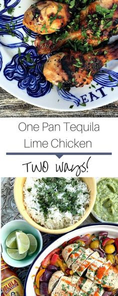 Juicy one pan tequila lime chicken recipe. Use with fajitas or for a burrito bowl! Perfect for a weeknight meal! Tequila Lime Chicken Recipe, Lime Chicken Recipes, Grilling Recipes, Paleo Recipes, Healthy Weeknight Meals, Spring Recipes, One Pot Meals, Fajitas, Stuffed Peppers