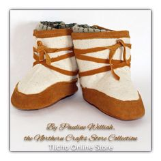 #Baby #Moccasin #Mukluks by Pauline Williah, the #Northern #Crafts #Store Collection on the #Tlicho Online Store @ http://onlinestore.tlicho.ca/products/baby-moccasin-mukluks-1