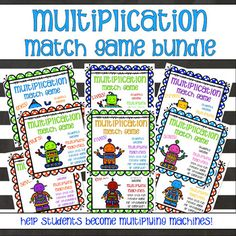 Review multiplication with this interactive match game. Students must find the match to the nines multiplication table. This is great for a small group activity or a whole group review. The game can be played on the computer or the smart board. Students can select two tiles.