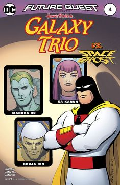 Future Quest Presents the universe's most-wanted thieves, the Galaxy Trio! Transformed by a freak accident while training to be space rangers, this trio of cadets has embraced the dark. Comics Online, Dc Comics, Future Quest, Space Ghost, Retro Cartoons, Comic Books Art, Book Art, Dark Side, The Darkest