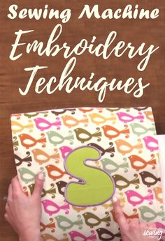 Nicole LaFoille demonstrates how to properly use your sewing machine for your embroidery. See how many different designs you can make with different fabrics. Learn what fabrics and appliques work best as well as find out what tools you may need to do machine embroidery. Take these helpful tips and start making your own designs with machine embroidery.