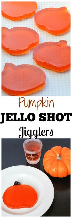 Pumpkin Shaped Jello Shot Jigglers - Bring these to your next Halloween party! They taste great and you don't have to slurp them!
