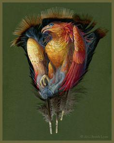 Kunst auf Vogelfedern