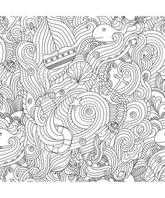 Ocean Designs Artist's Coloring Book