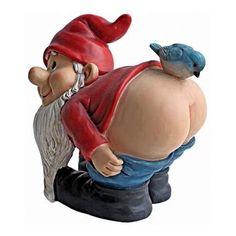 Design Toscano Moonie Bare Buttocks Garden Gnome Statue