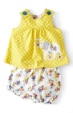 Mini Boden Appliqué Top Shorts (Baby Girls) available at #Nordstrom