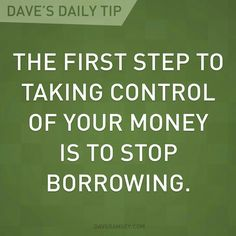 """The borrower is a slave to the lender."" Dave Ramsey Quotes, Total Money Makeover, Budgeting Finances, Budgeting Tips, Get Out Of Debt, Financial Peace, Financial Literacy, Financial Tips, Financial Planning"