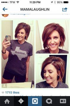 Mama Laughlin's short shacked hair
