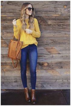 65 Modern Fall Outfits Ideas For Women To Try Asap Home in Fashion Kleider formell Kleider Winter Fashion Outfits, Look Fashion, Fall Outfits, Autumn Fashion, Casual Outfits, Womens Fashion, Outfit Winter, Casual Jeans, Fashion 2020