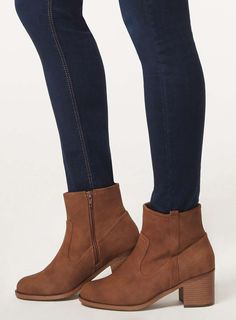 Wide fit chocolate 'Whistle' boots - Dorothy Perkins size 3