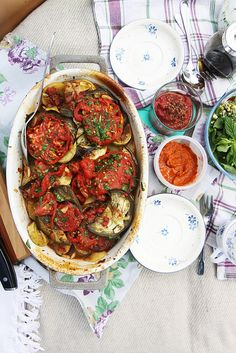 Gorgeous Farewell to Summer Vegetable Casserole by Olga Irez of Delicious Istanbul
