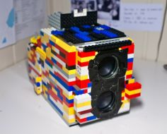 Simple DIY Project Makes A Working Camera From LEGOs & Binoculars!