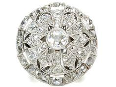 Unrivaled Art Deco Diamond Dome Ring of 8.58 ct. - The Three Graces