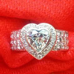 The leading peer to peer website for buying and selling diamonds, jewelry and watches. Heart Shaped Diamond Ring, Heart Shaped Engagement Rings, Heart Ring, Family Jewels, Heart Shapes, Custom Design, Stuff To Buy, Beautiful, Jewelry