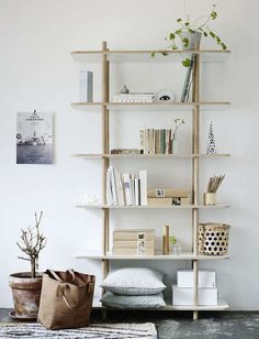 She likes to collect things, meaningful things. // shelf system from Skagerak in Denmark
