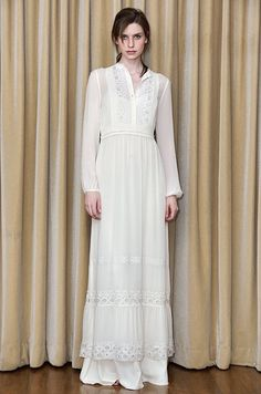 Temperley London boho wedding dress (almost like what I wore as a wedding dress in 1972) Yes, I was a boho hippie.