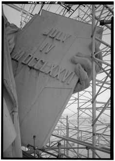 New York Architecture Images-STATUE OF LIBERTY's tablet. Vintage NYC photo