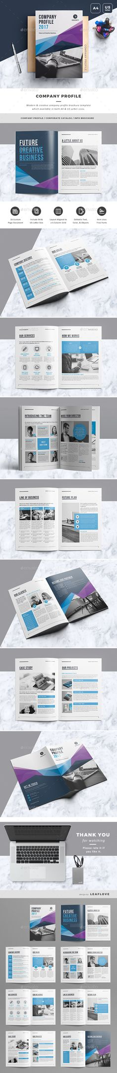 Clean and Professional Company Profile Brochure Template InDesign - professional business profile template