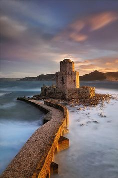 Castle of Methoni, southwest Peloponnese, south Greece I would love to visit this castle.