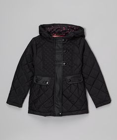 Look at this Dollhouse Black Hooded Puffer Coat - Infant, Girls & Women on #zulily today!