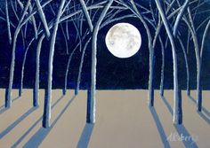 Night Sky Painting Fine Art Painting Small by annarobertsart
